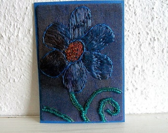 ACEO Fabric Art Mixed Media Original listing for ACEO only