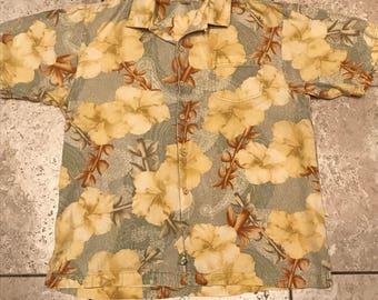 Tommy Bahama Hawaiian Shirt Size Medium 100% silk