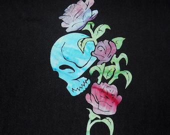 Skull and Roses Quilt Applique Pattern Design
