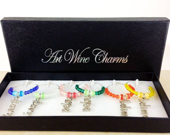 Wine Glass Charms, Hope dream believe,  Wine Lover Gift, Wine Charms, Wine Gift, Hope charms, BFF Gift, Party Favors, dream charms,