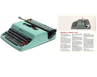 Olivetti Lettera 32 Portable Typewriter Instruction Manual Instant Download