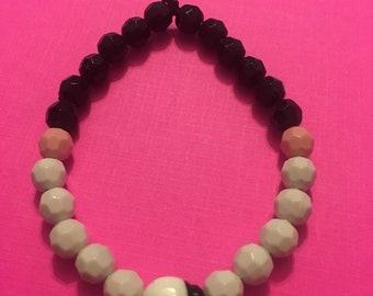 Lady bug bead bracelet