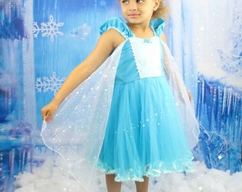 Elsa dress Elsa tutu dress Elsa princess  dress Frozen birthday party dress  or portrait