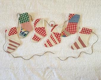 Christmas Stocking Garland Bunting