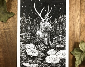Jackalope | Original Drawing