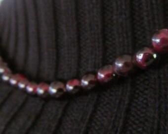 Bohemian Garnet Choker Glass Choker Necklace Ruby Glass Beads Bohemian Garnet Necklace Textured Glass Beads Red Necklace Vintage Choker