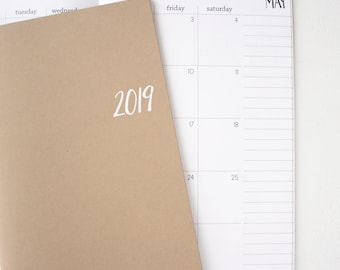 2019 basic monthly planner | 2 pages per month