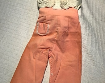 Vintage Girls Size X1 Overall Set By Wonderalls - Never Used Original Tags