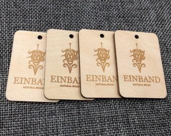 Custom wood hang tags, custom wooden hang tags, wooden tags