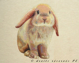 Fabric Panel tapestry red rabbit coupon