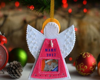 personalized grandpa gift christmas felt ornament christmas gifts grandparents for christmas pink and blue ornaments new