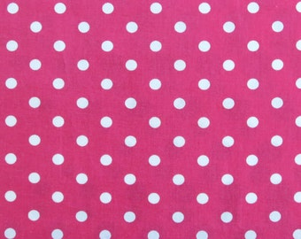Pink polka dot fabric - large polka dot fabric - Quilting fabric - Patchwork fabric - 100% cotton fabric - polkadots - Dressmaking