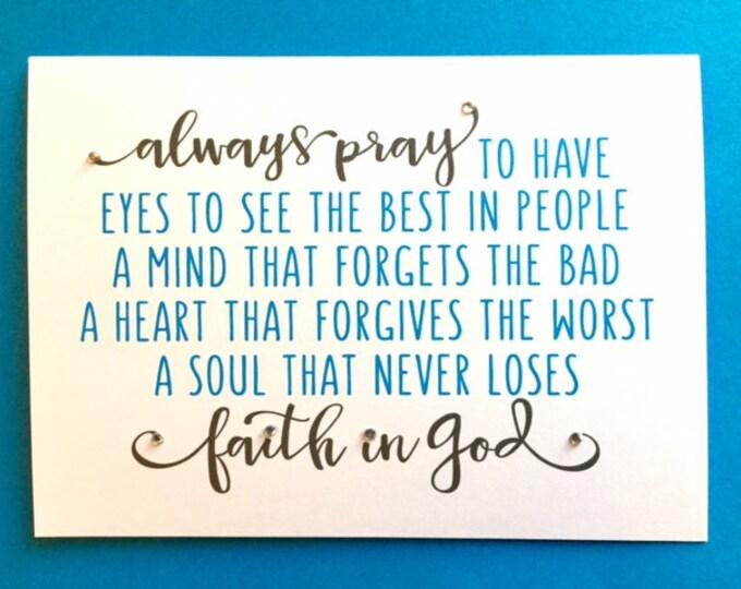Pray recovery encouragement card 5 x 7 print bestseller card faith in God friend bff partner wife husband encouragement BeachHouseDreams OBX