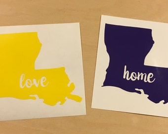 Louisiana - State Love Decal - Vinyl Decal