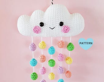 Cloud Mobile PDF Pattern, crochet, amigurumi