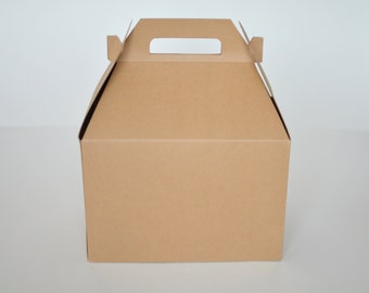 Kraft Gable Boxes (9x6x6)