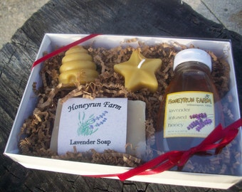 Lavender Gift Package - Soap, Honey, and Candles