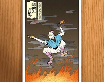 Bomberman Ukiyo-e Print
