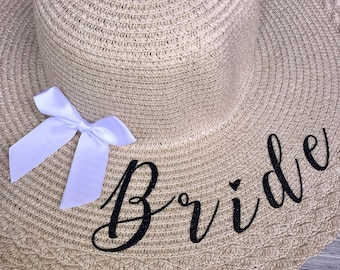 Bride Floppy Sunhat with Bow