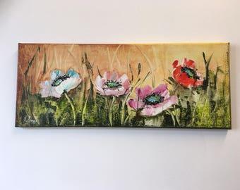 Painting acrylic floral decor
