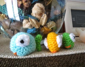 Colored wool fishes ideal as a favor or accessory