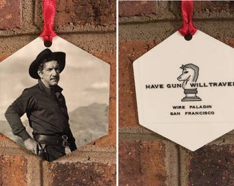 Have Gun Will Travel Paladin Christmas Ornament