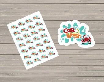 Planner Stickers, Car Wash Stickers, Calendar Stickers, Fits  Erin Condren Planner, Stickers, Reminder Stickers, Wash Car Stickers
