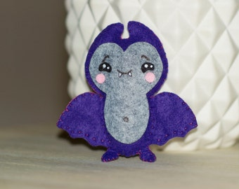 Mini bat plush mouse