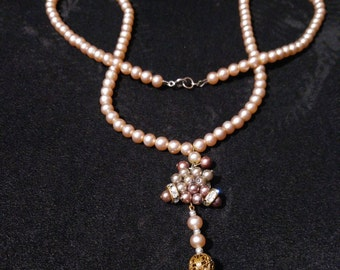 vintage victorian style pearl necklace