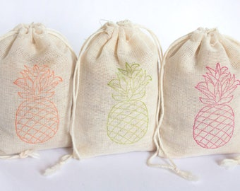 Pineapple Luau Bags Set 15 birthday party baby shower goodies treat bag