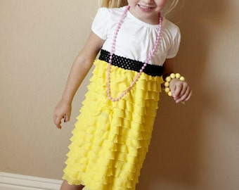 Girls Ruffle Tee Shirt Dress