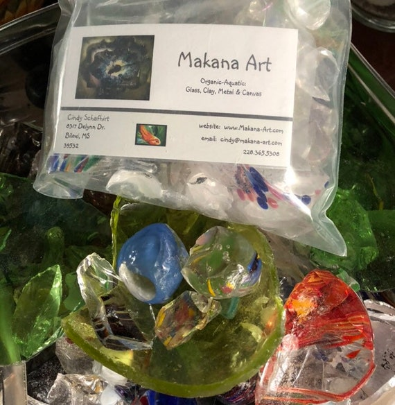 Art Kit Add-On: 1 pound lb. Hand Blown Glass Packs from Makana Art Studio, Biloxi, MS