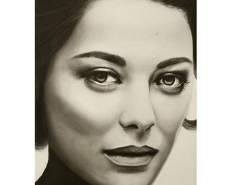 A Mark Of Beauty - Marion Cotillard - ART PRINT - 8 x 10 - By Mixed Media Artist Malinda Prudhomme