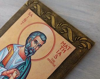 Saint Matthias,St Matthias,Matthias the Apostle,Baptism Gift,Christian Saint,Patron Saint,Catholic Saint,Icon of a Saint