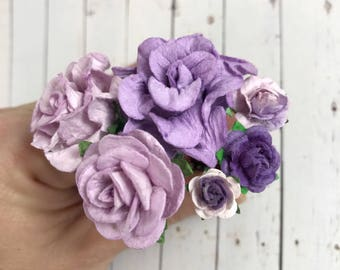 Lilac Purple Flower Hair Pins for Holidays, Weddings, Prom, Bridesmaids // Thank You Gift Set // Bridal Hair Style