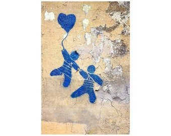 Come Fly with Me, Blue Heart, Couple, Wedding Gift, French Blue, Valentine's Day, Paris Photography