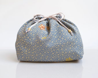 Lingerie bag made from Japanese kimono silk, laundry & underwear pouch, travel storage accessory