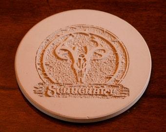 Personalized Coasters, Sandstone Round Coaster Set (peurocoast)