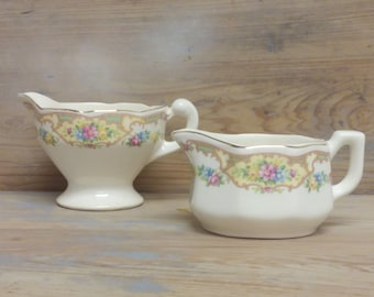 Pair of Creamer Pitchers by Mount Clemens Pottery Mildred