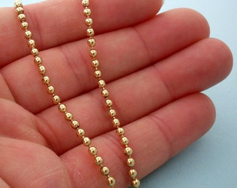 NEW Gold Plated Ball Chain Necklace, Gold Ball Chain Necklace - 18 inch