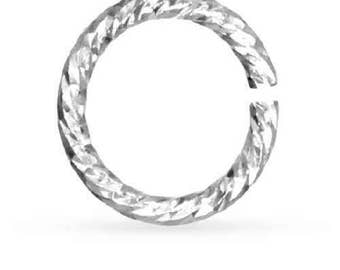 Open Jump Ring Sparkle  Sterling Silver 20ga 4mm   - 100 pcs (11149)/1