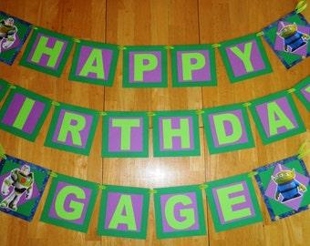 ONE WEEK SALE! - Buzz Lightyear Banner, Buzz Birthday, Toy Story Birthday