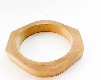 Unfinished Wood Bangle - Unique Bracelet - Fashion Supply - Eco-Friendly Jewelry