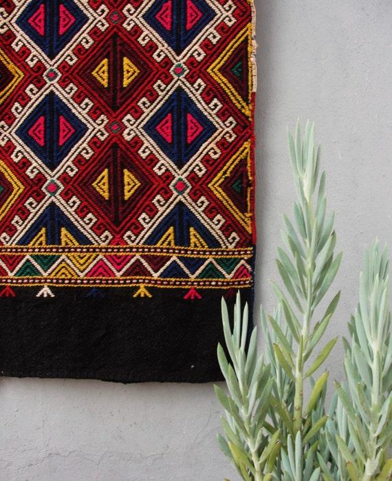 Vintage Kilim Rug Turkish Rare Soumak Kilim Large Cushion
