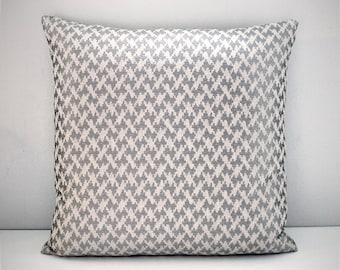 Tan greige linen chenille cushion cover