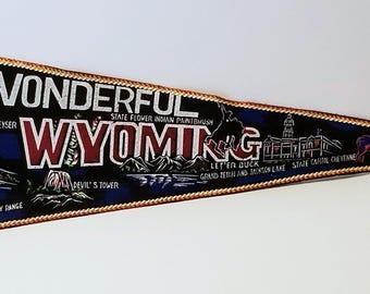 Wonderful Wyoming - Vintage Pennant