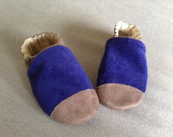 Suede and corduroy baby shoes