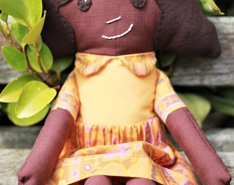 Handmade Rag Doll. Black Doll. African Doll. Cloth Doll. Fabric Doll. Doll. Dolly. Plushie