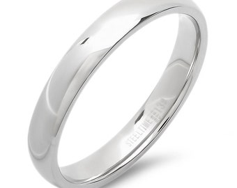 Wedding Band - Stainless Steel and 18k Gold Plated-Engravable