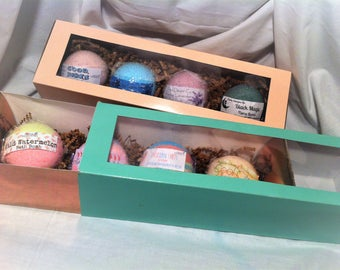 Bath Bomb Gift Set / Set of 4 Bath Bombs / Bath Bomb Set / Gift For Her / Spa Set